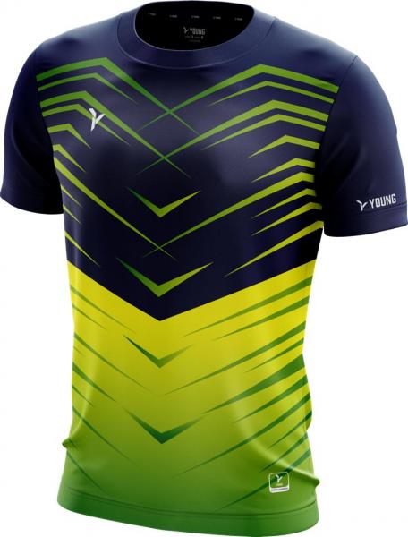 Männer Shirt Fresco 3 navy-grün