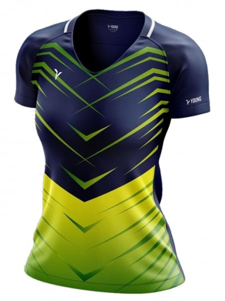 Damen Shirt Fresco 3 navy-grün