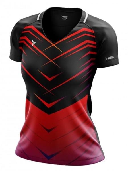 Damen Shirt Fresco 3 schwarz-rot