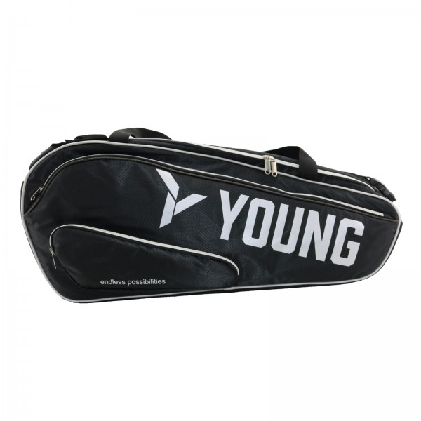 Premium Sporttasche mit Rucksackfunktion, schwarz