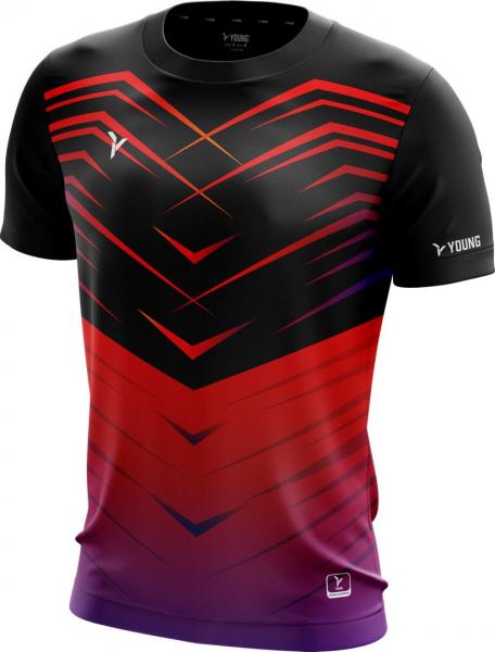 Männer Shirt Fresco 3 schwarz-rot