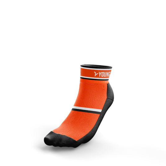 Sportsocken - flacher Bund - orange
